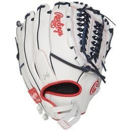 """Rawlings Liberty Advanced 12.5"""" Fastpitch Finger Shift Outfield Glove- RLA125FS-15WNS"""