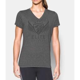 Elite Academy UA Threadborne Train Twist SS V-Neck Women's Shirt - 1289650