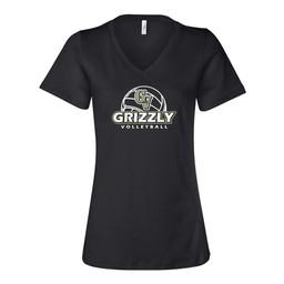 GVHS Volleyball Bella Womens Short Sleeve V-Neck T-Shirt - 6405