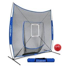 PowerNet DLX Baseball Net 7x7 - TEAM ROYAL BLUE