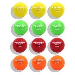 """PowerNet 2"""" Micro Weighted Training Balls Assortment (12 Pack)"""
