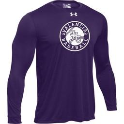 Valencia Baseball UA Tech Long Sleeve Tee Purple