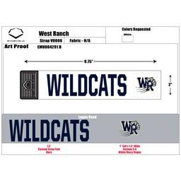 "WRHSBB Baseball Custom EvoShield Strap ""WILDCATS"" Strap"