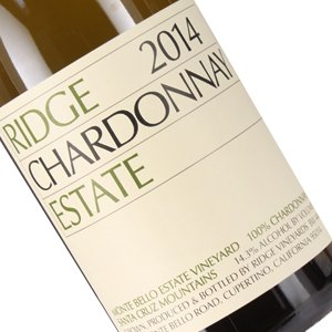 Ridge 2014 Estate Chardonnay, Santa Cruz Mountains