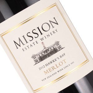 Mission Winery 2012 Merlot Hawke's Bay, New Zealand