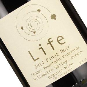 Cooper Mountain 2014 Pinot Noir 'Life' Willamette Valley