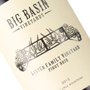 Big Basin Vineyards 2013 Pinot Noir Lester Family Vineyard, Santa Cruz Mountains