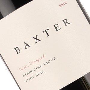 Baxter 2010 Pinot Noir Valenti Vineyard, Mendocino Ridge