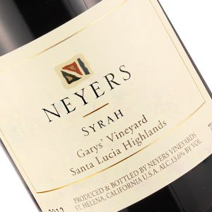 Neyers 2013 Syrah Gary's Vineyard, Santa Lucia Highlands