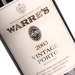 Warre's 2003 Vintage Porto Portugal