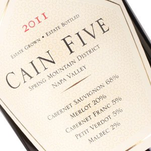 """Cain 2012 """"Five"""" Red Blend Spring Mountain District Napa Valley"""