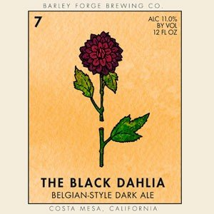 "Barley Forge Brewing ""The Black Dahlia"" Belgian-Style Dark Ale, California"