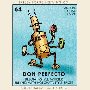 """Barley Forge Brewing """"Don Perfecto"""" Belgian-Style Witbier, California"""