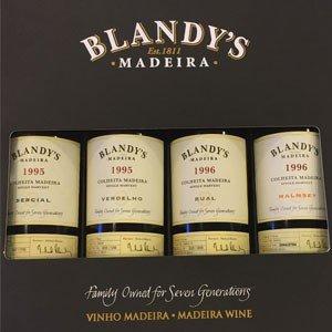 Blandy's Colheita Madeira 4 bottle 500ml Sampler Pack