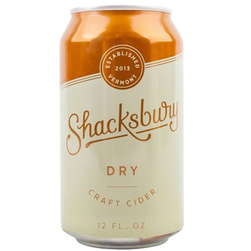 "Shacksbury ""Dry"" Cider, Vermont - 12oz can"