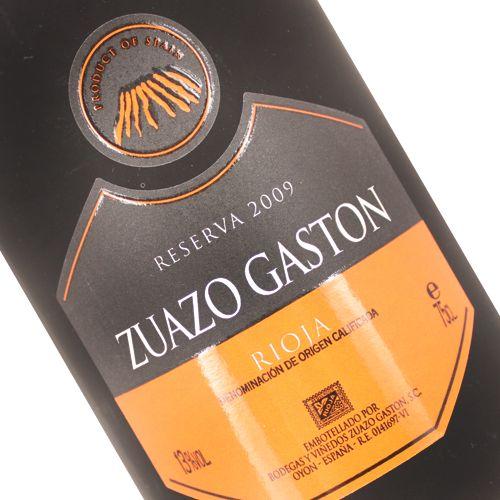 Zuazo Gaston 2009 Reserva, Rioja