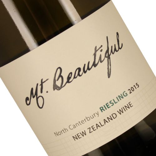 Mt. Beautiful 2015 Riesling, New Zealand