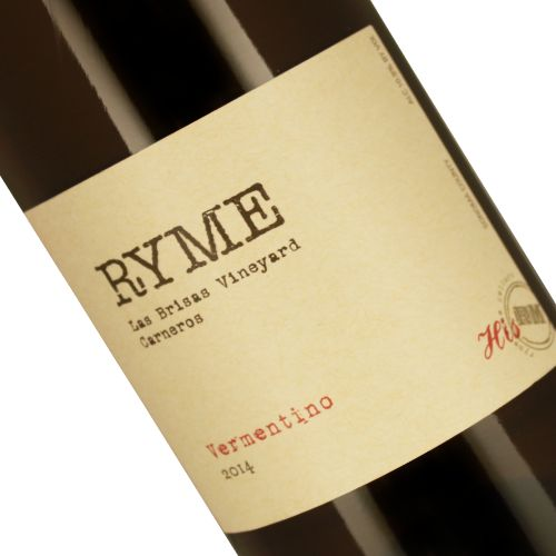Ryme Cellars 2014 Vermentino, 'His', Las Brisas Vineyard, Carneros