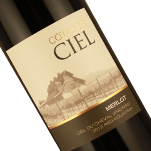 Cotes de Ciel 2012 Merlot Ciel Du Cheval Vineyard Red Mountain
