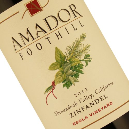 Amador Foothill 2012 Zinfandel Esola Vineyard