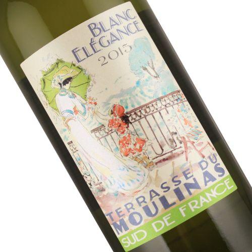 Terrasse Du Moulinas 2015 Blanc Elegance, Languedoc - 1 Liter