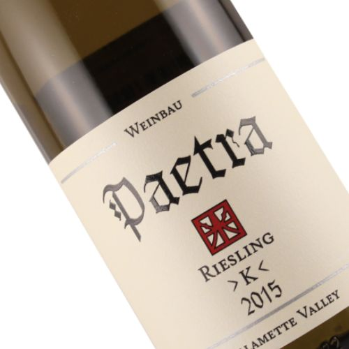Paetra 2015 Riesling  >K< Willamette Valley, Oregon