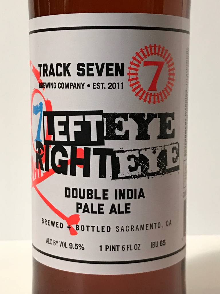 """Track 7 Brewing """"Left Eye Right Eye"""" Double IPA - 22oz"""