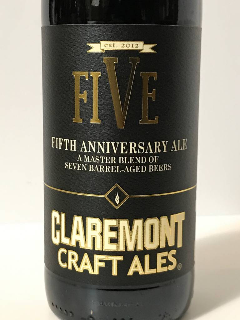 """Claremont Craft Ales """"Five"""" Fifth Anniversary Ale"""