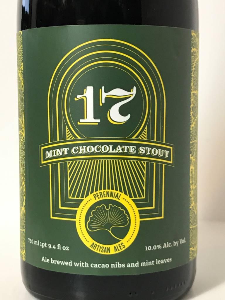 "Perennial Artisan Ales ""17"" Mint Chocolate Stout, Missouri"
