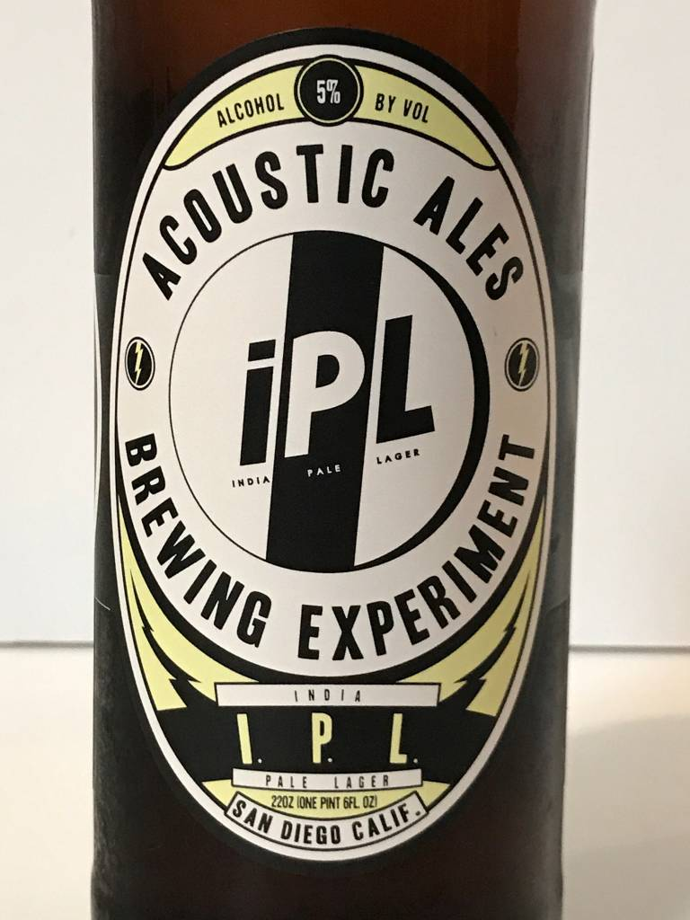 """Acoustic Ales Brewing Experiment """"IPL"""" India Pale Lager, California"""