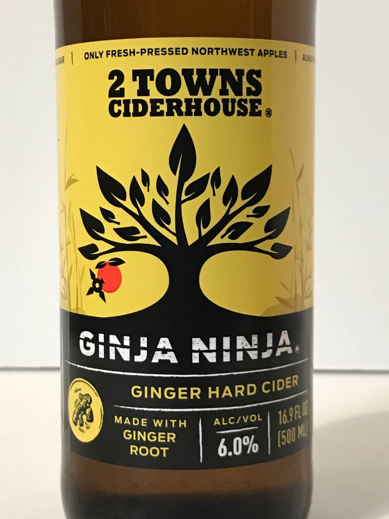 "2 Towns Cider House ""Ginja Ninja"" Cider, Oregon"