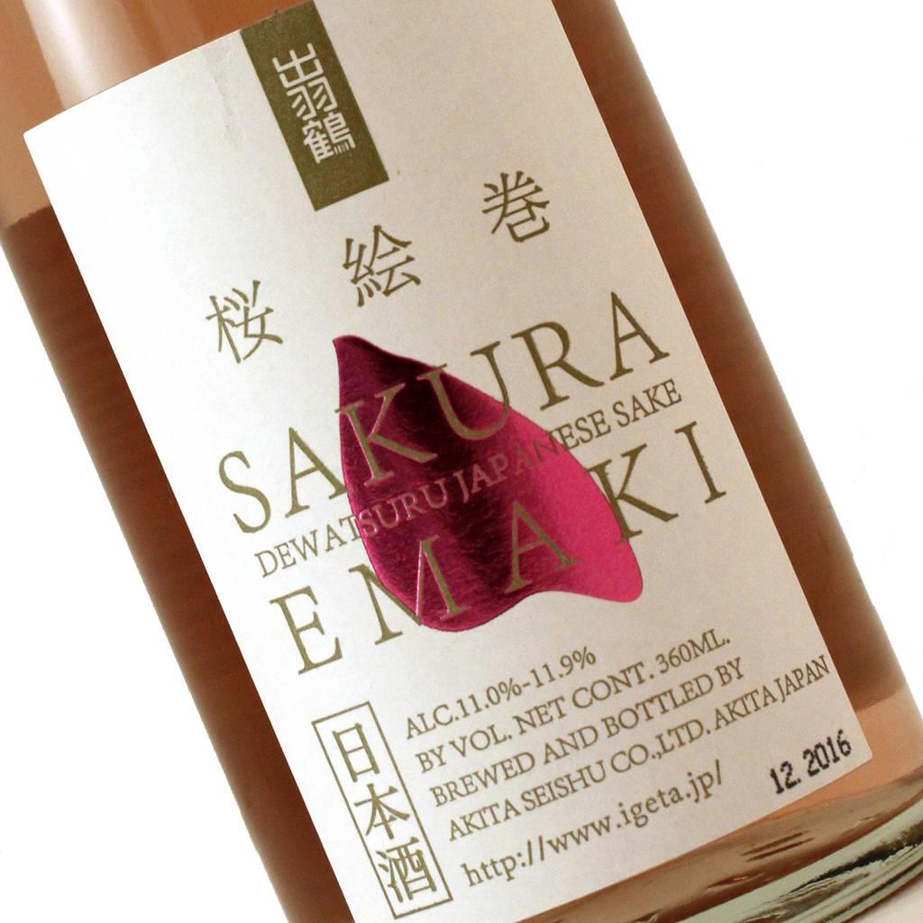 Dewatsuru Sakura Emaki Rose Sake