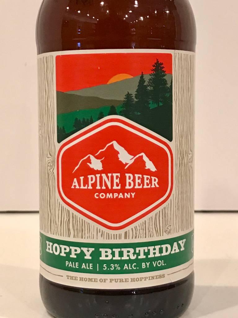 "Alpine Beer Company ""Hoppy Birthday"" Pale Ale, California"