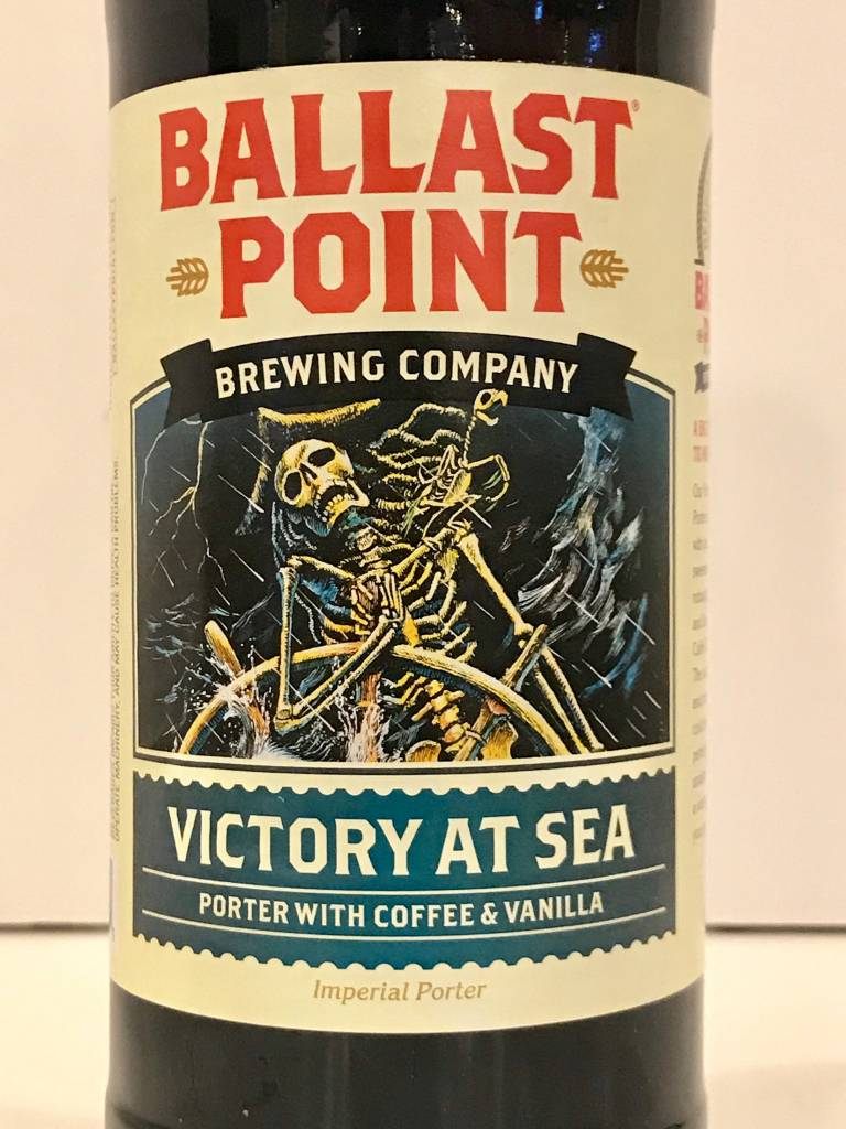 "Ballast Point Brewing ""Victory at Sea"" Coffee Vanilla Imperial Porter, California"