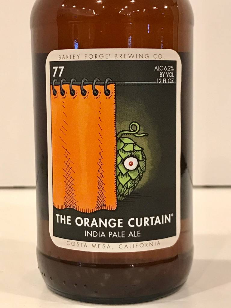 "Barley Forge Brewing ""The Orange Curtain"" IPA, California"