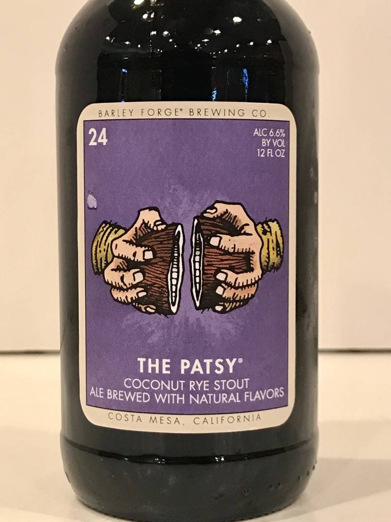 """Barley Forge Brewing """"The Patsy"""" Coconut Rye Stout, California"""