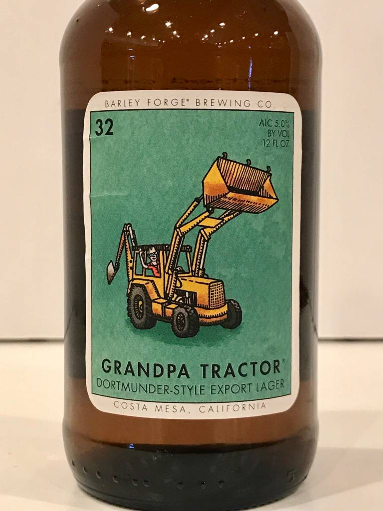 """Barley Forge Brewing """"Grandpa Tractor"""" Dortmunder-Style Export Lager, California"""