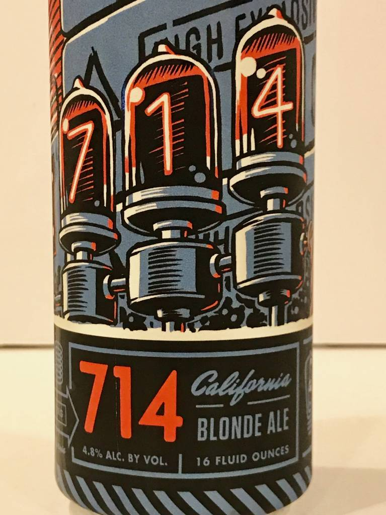 "Bottle Logic Brewing ""714"" Blond Ale, California - 16oz can"