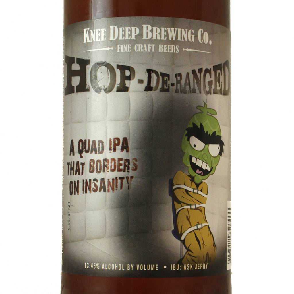 "Knee Deep Brewing ""Hop-De-Ranged"" Quadrupel IPA, California"