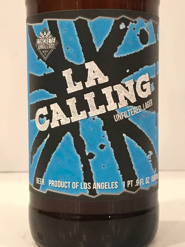 "Concrete Jungle ""LA Calling"" Unfiltered Lager, California - 16oz can"