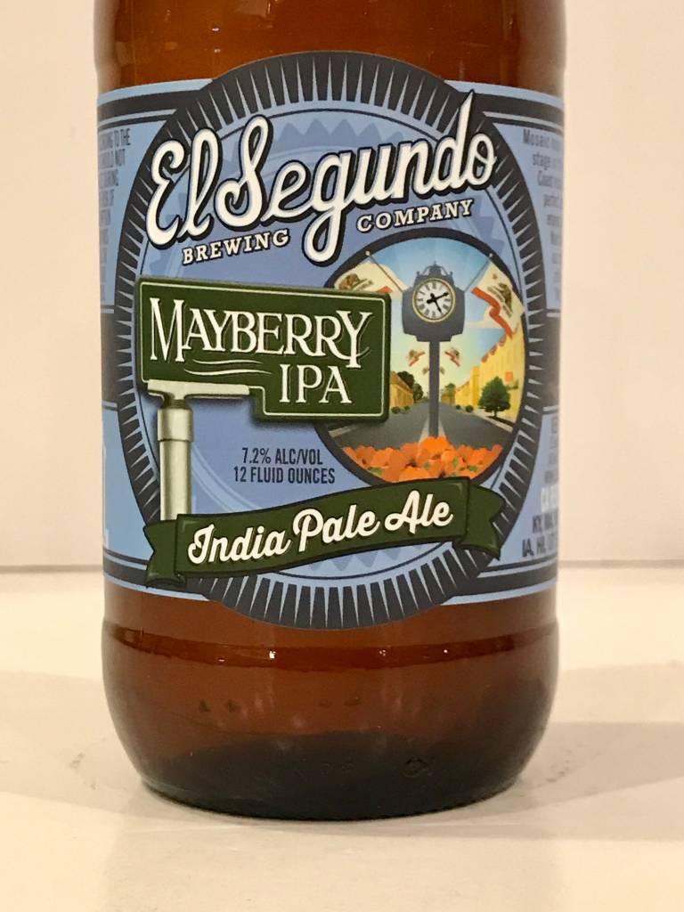 """El Segundo Brewing """"Mayberry"""" IPA, California - 12oz"""