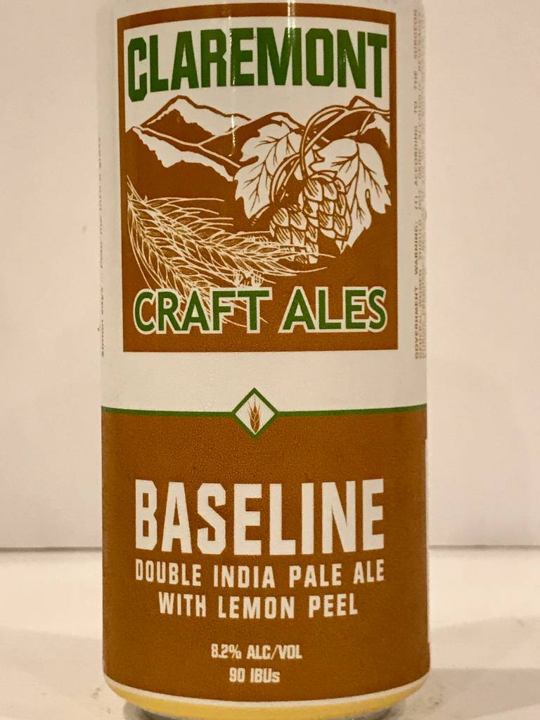 "Claremont Craft Ales ""Baseline"" DIPA with Lemon Peel, California"