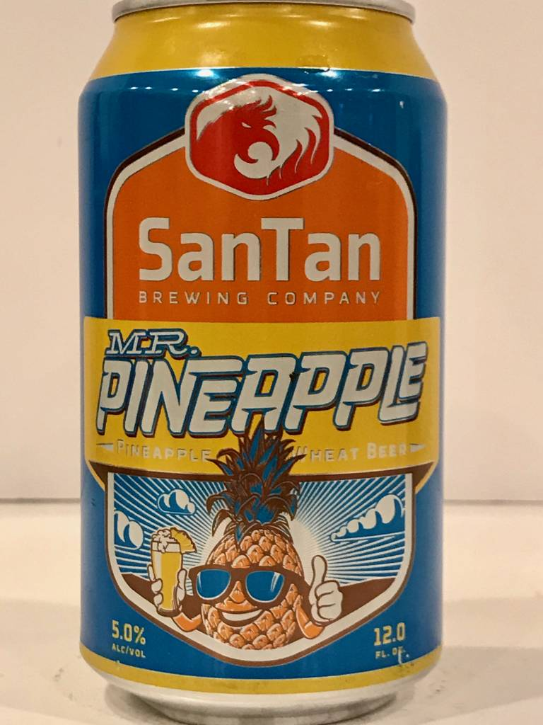 "SanTan ""Mr. Pineapple"" Wheat, Arizona - 12oz can"