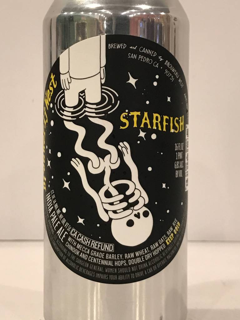 "Brouwerij West ""Starfish"" IPA, California - 16oz can"
