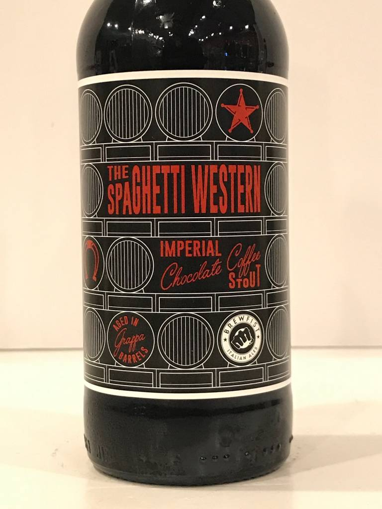 "Brewfist ""Spaghetti Western - Grappa Barrel Aged"" Imperial Chocolate Coffee Stout, Italy"
