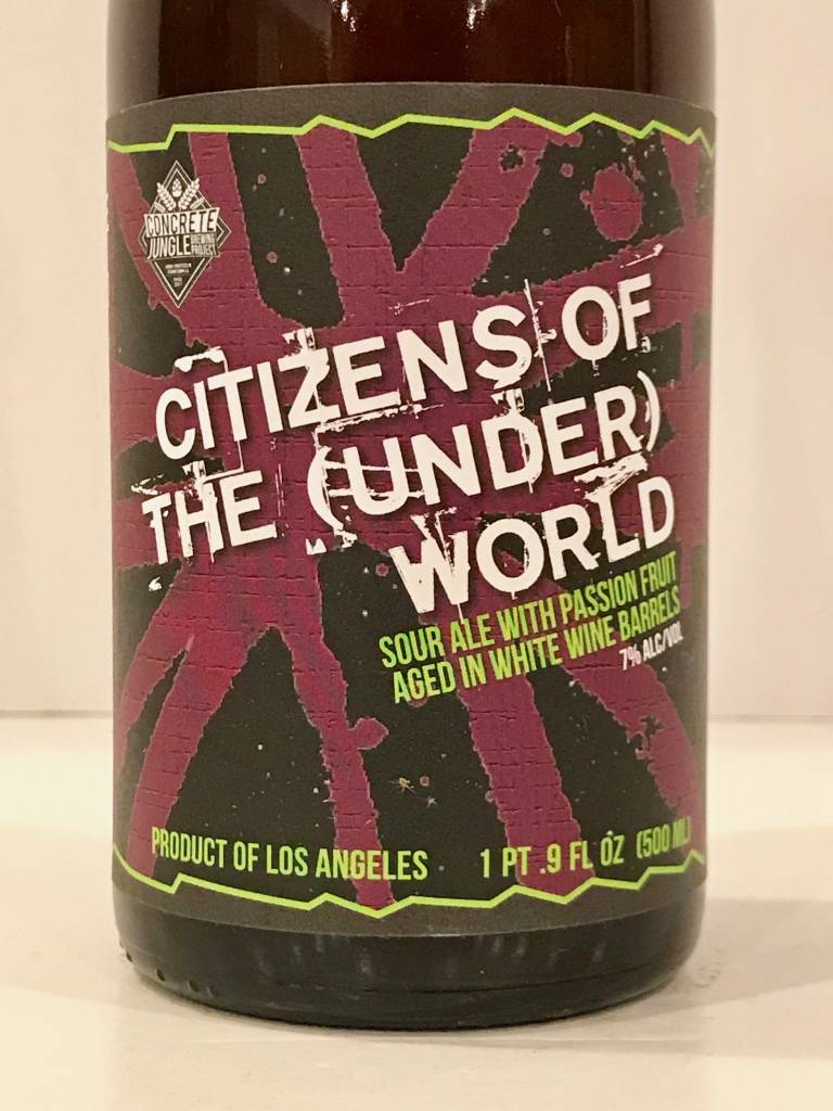 "Concrete Jungle ""Citizens of the Underworld"" Sour Ale, California"