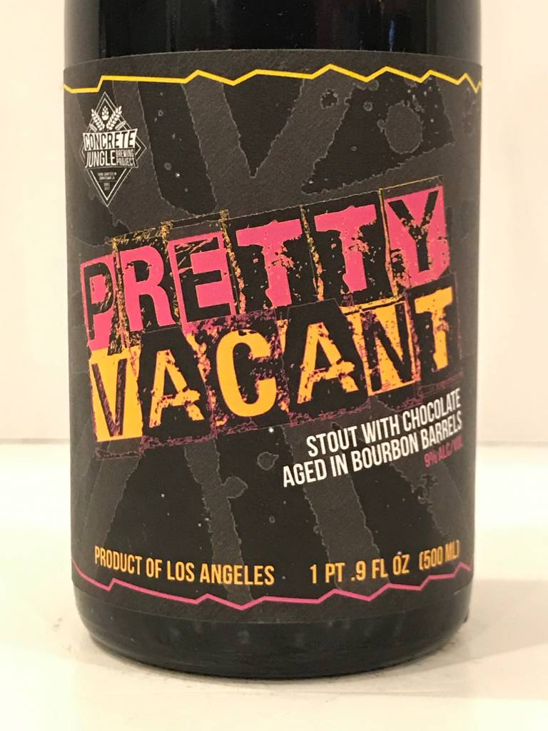 "Concrete Jungle ""Pretty Vacant"" Chocolate Stout, California"
