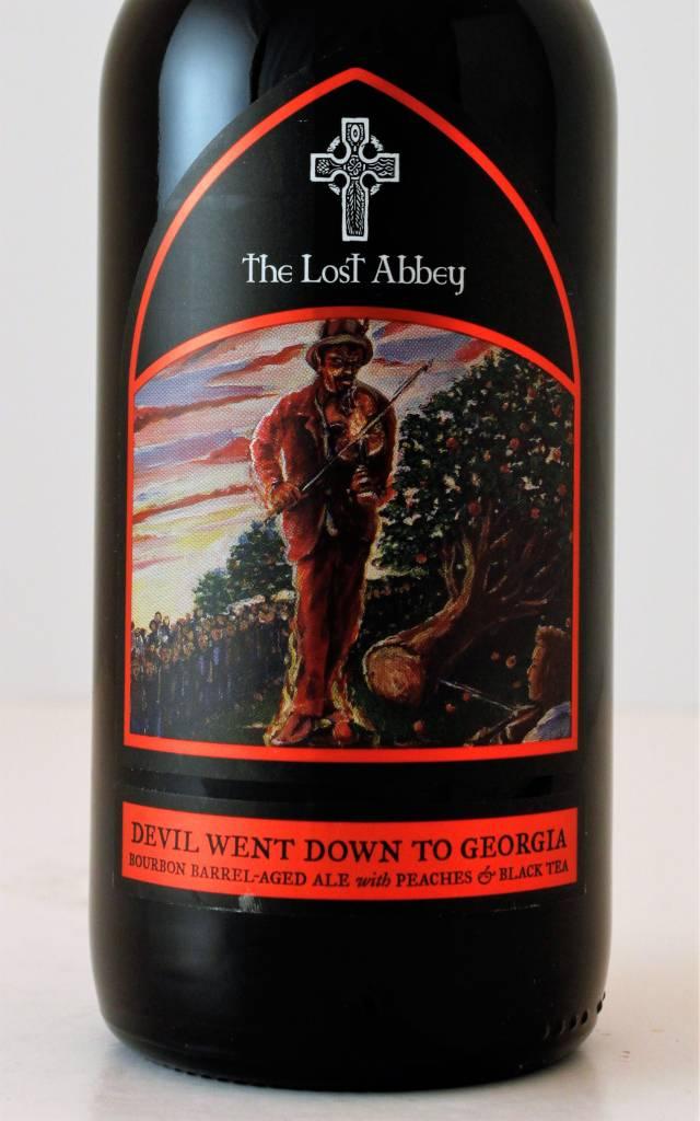 """Lost Abbey """"Devil Went Down To Georgia"""" Bourbon BA Ale w/ Peaches and Black Tea, California"""