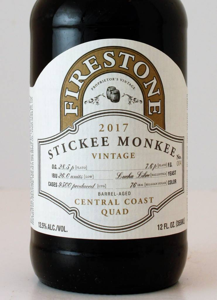 "Firestone Walker Brewing ""Stickee Monkee 2017"" Central Coast Quad, California"
