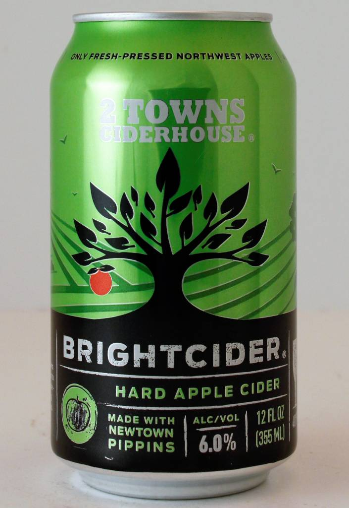 """2 Towns Cider House """"Bright"""" - 12oz cans"""